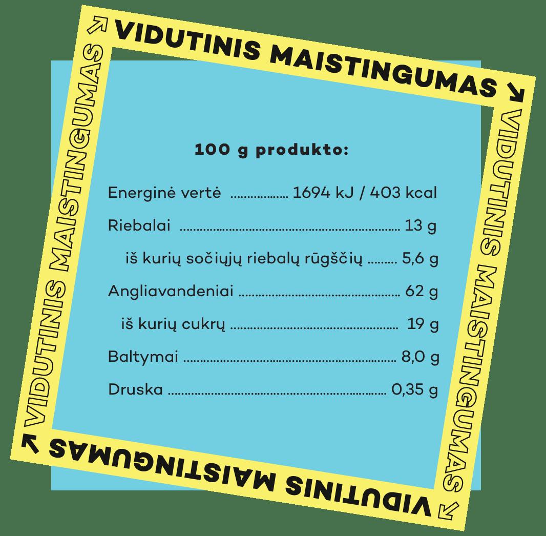 """""""Gaidelis SPANGUOLĖ"""" maistingumas"""